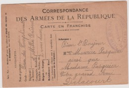 Vieux  Papier:  Genre Carte :  Armée De La  République Cachet BATNA  Algérie ( Tabac)(Pasquier-delacourt) - Announcements