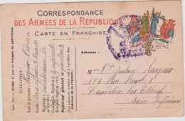 Vieux  Papier:  Genre Carte :  Armée De La  République, CAUDEBEC Les  ELBEUF  Seine  Maritime - Mitteilung