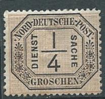 Confederation De L'allemagne Du Nord   Service N°1 *   - - Abc 17706