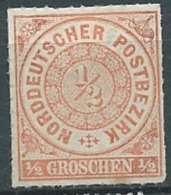 Confederation De L'allemagne Du Nord   Yvert  N°3 (*)    - Abc 17708 - Conf. De Alemania Del Norte