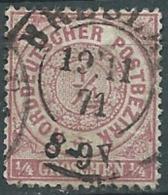 Confederation De L'allemagne Du Nord   Yvert  N°12 Oblitere   - Abc 17709 - North German Conf.
