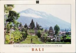 BALI  THE MOST IMPORTANT  TEMPLE   MAXICARD  2 SCAN      (VIAGGIATA) - Indonesia