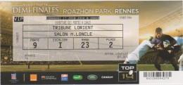 Vieux  Papier:  Billet  Rugby : A RENNES  Demi  Finales  Vendredi 17 Juin  2016, Top 14 - Rugby