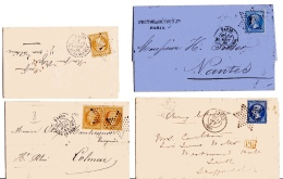 Lot De Lettres (41) Cartes Postales (5) (et Un Devant) Oblitérés étoiles De Paris - Postmark Collection (Covers)