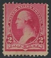 US  1890   Sc#220  2c Washington  MLH*  2016 Scott Value $20 - 1847-99 General Issues