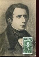13148 Italia, Maximum 22.11.1937 Centenary Of  Italian Poet, Philosopher, Writer Giacomo Leopardi, - Cartas Máxima