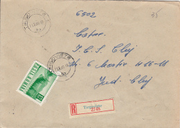 49322- LANDSCAPE, STAMPS ON REGISTERED COVER, 1968, ROMANIA - 1948-.... Republics