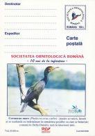 49527- GREAT CORMORANT, BIRDS, POSTCARD STATIONERY, 2000, ROMANIA