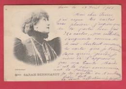 Mme Sarah-Bernardt  - Cliché Reutlinger  - 1901 ( Voir Verso ) - Donne Celebri