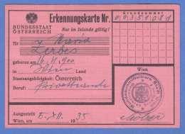 ERKENNUNGSKARTE ÖSTERREICH 1935 - Historische Dokumente