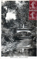 Cpa  SENAN, Pont Sur Le Tholon, Promeneurs (52.62) - France