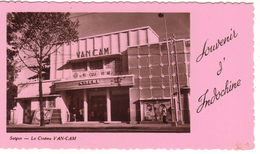 VIET-NAM  - SAIGON - Le Cinéma VAN-CAM  (format Carte De Voeux)  11x6.5 - Vietnam