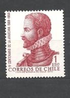 """CILE   ( CHILE)1972 The 400th Anniversary Of """"La Araucana"""", Epic Poem By De Ercilla Y Zuniga, 1969 739 NO G - Cile"""