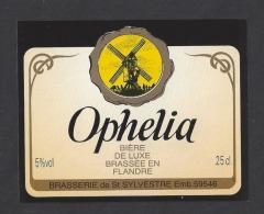 Etiquette De Bière De Luxe  -   Ophélia -  Brasserie De Saint Sylvestre Cappel   (59) - Bier