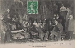 EXPLOITATION SOUTERRAINE D'UNE ARDOISIERE - REPAS DES OUVRIERS -49- - France