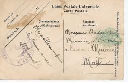 CUIRASSE CHARLEMAGNE  SUR CARTE TURQUIE METELIN - Marcophilie (Lettres)