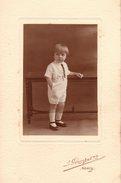 Grande Photo Originale Enfant - Studio J. Gerschel 01 - Nancy - Meurthe-et-Moselle - 54000 - Garçonnet à La Cravate - Anonymous Persons