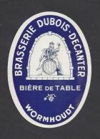 Etiquette De Bière De Table -    Brasserie Dubois Decanter  à  Wormhout  Ou Wormhoudt (59) - Cerveza