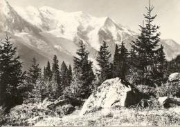 74. CPSM. Haute Savoie. Chamonix- Mont-Blanc. La Chaîne Du Mont-Blanc - Chamonix-Mont-Blanc