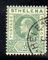 T592 - ST HELENA 1902 , Gibbons N. 53 Usato - Isola Di Sant'Elena