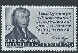 Italia 1956; Amedeo Avogadro, Anniversario Della Morte. - 6. 1946-.. Republik