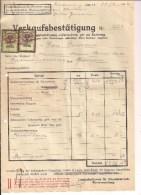 1 Rechnung Linz 31.3.1932 Nach Goisern Mit 2 Aufgekl. Stempelm. 20 + 30 Groschen Aus 1925 + 2 Zahlscheine - Österreich