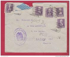 ESPAGNE  //Enveloppe De Barcelone   //  Pour Paris  // 1939 - 1931-50 Brieven