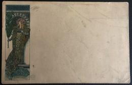 CPA ILLUSTRATEUR MUCHA GISMONDA (SARAH BERNARDT) 1898 RARE - Mucha, Alphonse