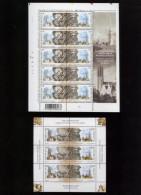 Belgie 2003 3170/71 JOINT ISSUE Russia Mechelen St Petersburg Clocks Sheet Plaatnummer 10 + Russian Sheet - Feuillets