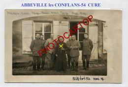 ABBEVILLE Les CONFLANS-Cure-Pretre-Religion-Commandement 12 Inf. Rgt.-CARTE PHOTO Allemande-Guerre 14-18-1 WK-France-54- - Other Municipalities
