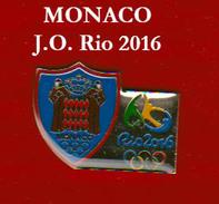 Pins NOC De Monaco Des Jeux Olympiques De RIO 2016 - Juegos Olímpicos