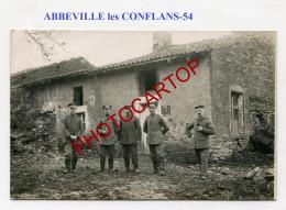 ABBEVILLE Les CONFLANS-Etatmajor 13 Landw. Div.-CARTE PHOTO Allemande-Guerre 14-18-1 WK-France-54- - Other Municipalities