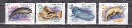 United Arab Emirates UAE 2004,4V,marine Life,the Black Finless Porpoise,fish,vis,whale Shark,dugong,MNH/Postfris(A2739) - Dolfijnen