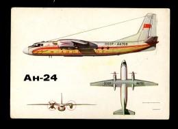 AVIATION Aircraft Plane Airplane Luftfahrt Flugzeug Avion Aéronautique Antonov AN 24 USSR - 1946-....: Moderne
