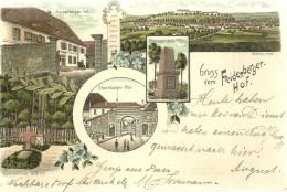 67 CPA  Gruss Aus Freidenberger Hof Lithographie Porte De Strasbourg  1898 - France