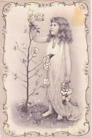 Enfant   176        ( Image Seule,  Enfant Cueillant Des Fleurs ) - Portraits