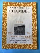1815 - Suisse Genève  Domaine Du Chambet 1996 Chardonnay - Etiquettes