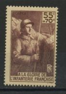 FRANCE - 55C  + 70C POUR UN MONUMENT POUR INFANTERIE - N° Yvert 386** - Nuevos