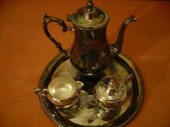 Kaffee-Kern Auf Tablett  (237) - Silberzeug