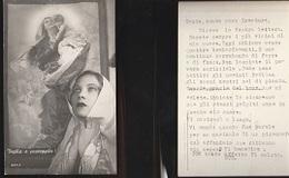 7271) DONNA GUARDA QUADRO DI MADONNA CON BAMBINO NON VIAGGIATA 1940 CIRCA NOTIZIE DI BOMBARDAMENTO - Non Classés