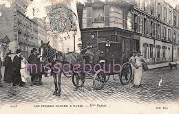 75 - PARIS - Les Femmes Cocher - Calèche - 1907 - 2 Scans - Transport Urbain En Surface