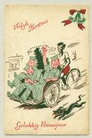 Nederlands Indië - 1949 - Speciale Kerstkaart Dienst Welfare Van Batavia Naar Groningen - Netherlands Indies