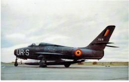 CPSM BELGIQUE TRANSPORT AERONAUTIQUE - Force Aérienne Belge - Republic F 84 F Thunderstreak - 1946-....: Moderne