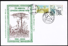 Croatia Virje 2000 / 70 Anniversary Of The Virje Hunting Society / Shooting Weapon, Guns, Rifles, Deer - Sellos
