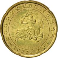 Monaco, 20 Euro Cent, 2002, SUP, Brass, KM:171 - Monaco