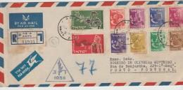 Cover - 1956 - Israel »» Portugal // Registered - Israel