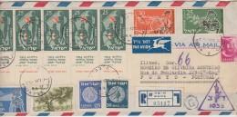 Cover - 1957 - Israel »» Portugal // Registered - Israel