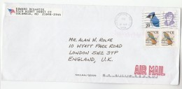 1996 Air Mail  USA COVER Stamps  BIRDS, ALICE PAUL,  To GB  Bird - United States