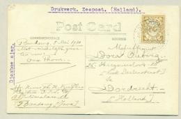Nederlands Indië - 1930 - 2 Cent Cijfer Op Kaart Van LB BANDOENG TJIKOEDAPATEUH Naar Dordrecht / Nederland - Nederlands-Indië