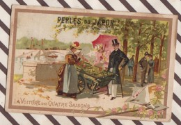 6AI3676 CHROMO PERLES DU JAPON LA VOITURE DES QUATRE SAISONS  2 SCANS - Trade Cards